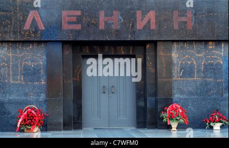 Lenin lenin's Mausoleum tomb kremlin Red Square Moscow Russia Communism Russia Kremlin - Stock Photo