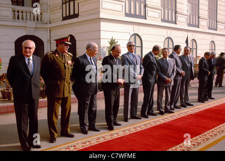 Egyptian cabinet members during the presidency of Hosni Mubarak ...