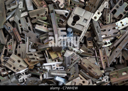 Scrap metal ready to be processed for recycling - Stock Photo