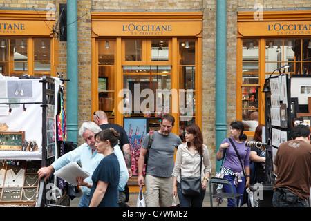 A L'Occitane En Provence store in Covent Garden, London, England, U.K. - Stock Photo