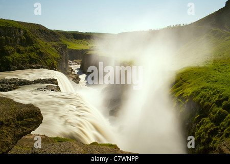 Gullfoss waterfall in southwestern Iceland. - Stock Photo