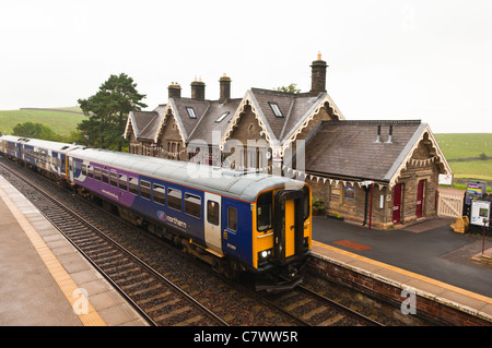 The Railway Station at Kirkby Stephen in Cumbria , England , Britain , Uk - Stock Photo
