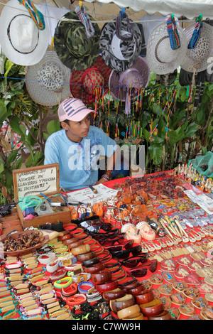 Managua Nicaragua El Malecon Puerto Salvador Allende Lake Xolotlan inland port recreational area shopping vendor - Stock Photo
