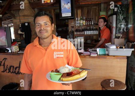 Managua Nicaragua El Malecon Puerto Salvador Allende Lake Xolotlan inland port recreational area Asados Horsan restaurant - Stock Photo