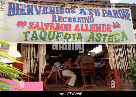 Managua Nicaragua El Malecon Puerto Salvador Allende Lake Xolotlan inland port recreational area Taqueria Asteca - Stock Photo