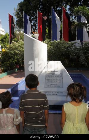 Managua Nicaragua Central Park Area Monumental Carlos Fonseca Amador Sandinista National Liberation Front FSLN founder - Stock Photo