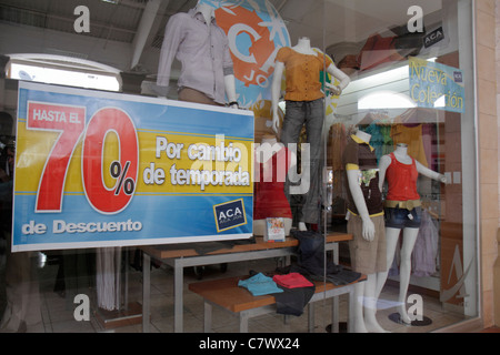 Managua Nicaragua Metrocentro shopping center centre mall business store boutique apparel junior clothes fashion - Stock Photo
