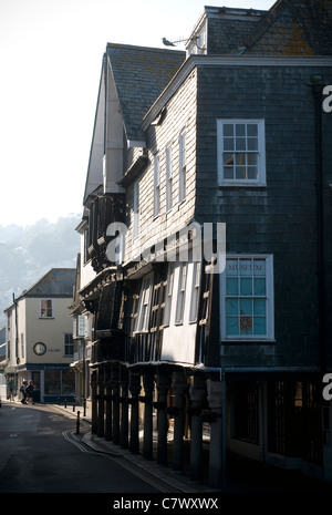 Dartmouth Museum is a museum housed in an atmospheric old merchant's house, built in 16 century, - Stock Photo