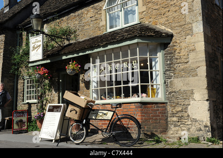 The Lacock Bakery shop in the Village of Lacock Wiltshire Uk - Stock Photo