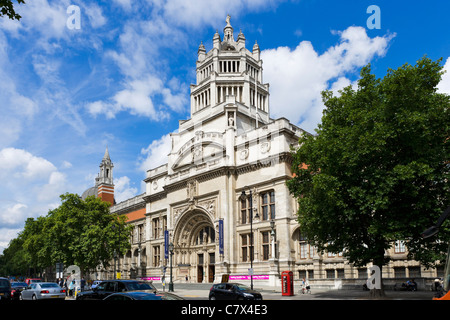 The Victoria and Albert Museum, Exhibition Road, South Kensington, London, England, UK - Stock Photo