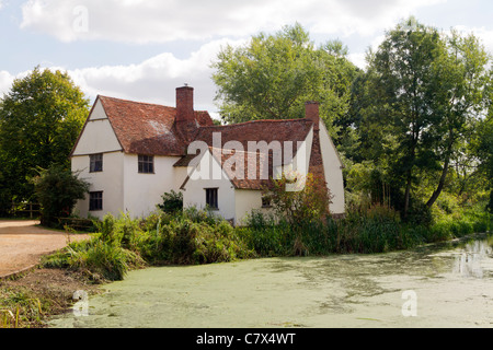 Willy Lotts cottage, Flatford Mill, Essex, UK - Stock Photo