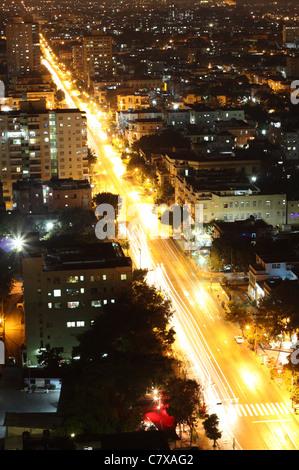 Vedado Quarter in Havana at night, Cuba - Stock Photo