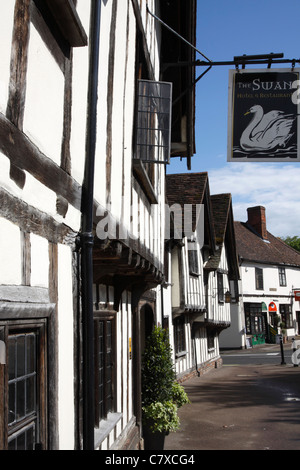 The Swan Hotel in the medieval village of Lavenham in Suffolk - Stock Photo