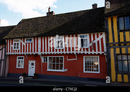 Typical timber framed building in Lavenham Suffolk - Stock Photo