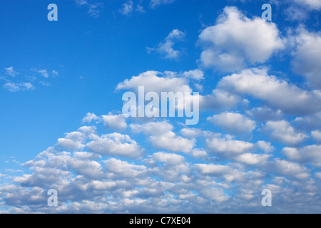clouds against a blue sky - Stock Photo