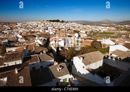 Panoramic view Antequera Malaga Andalusia Spain - Stock Photo