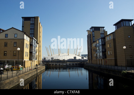 The O2 from the Isle of Dogs - Stock Photo