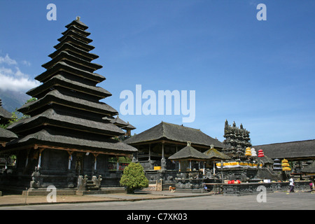 Besakih Mother Temple on the slopes of Mount Agung, Bali - Stock Photo