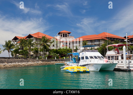 Sutera Harbour and the Magellan Sutera Hotel, Kota Kinabalu, Malaysian Borneo - Stock Photo