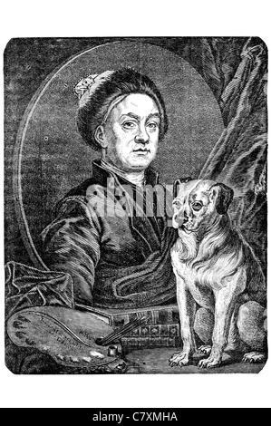William Hogarth 1697 1764 English painter printmaker pictorial satirist social critic editorial cartoonist sequential - Stock Photo