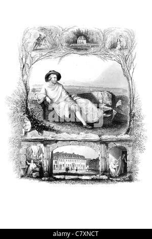 Portrait Johann Wolfgang von Goethe 1749 1832 German writer pictorial artist biologist theoretical physicist polymath - Stock Photo