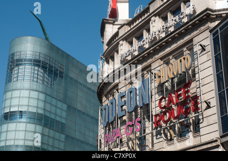 The Urbis building ,right, which will house the National Football Museum in 2012 alongside the Printworks. - Stock Photo