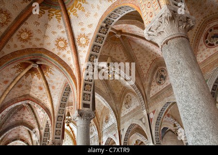 Milan - indoor of church Santa Maria delle Grazie - Stock Photo