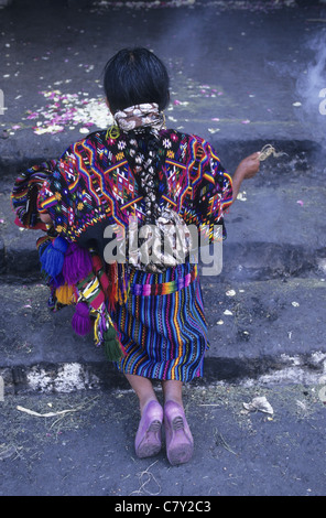 Guatemala, Chichicastenango, mayan ceremonies - Stock Photo