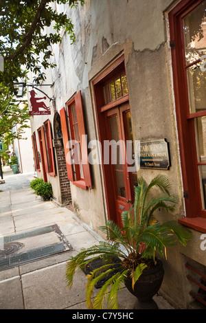 Historic houses along Church Street Charleston, SC. - Stock Photo