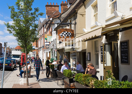 The Chequers pub on the High Street, Marlow, Buckinghamshire, England, UK - Stock Photo