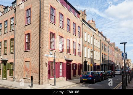 Princelet Street, Spitalfields, London, England, UK - Stock Photo
