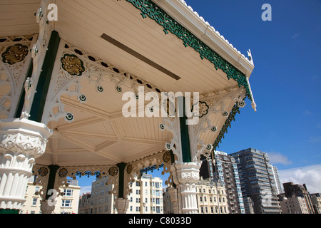 England, East Sussex, Brighton, Kings Road Arches, restored seafront Victorian bandstand. - Stock Photo