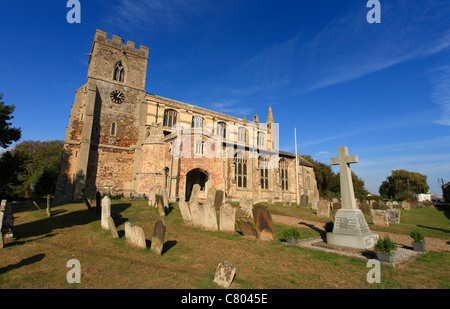 The church of St Mary Magdalene at Wiggenhall St Mary Magdalen, Norfolk. - Stock Photo