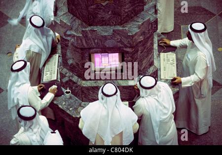 Kuwait - Kuwait City stock exchange - Stock Photo