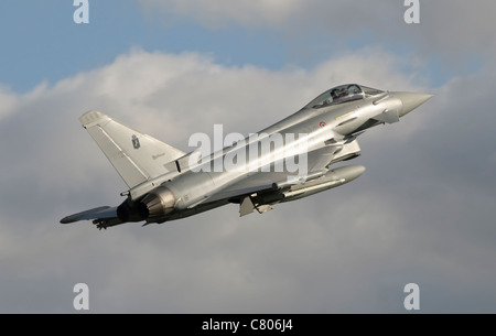 A Eurofighter 2000 Typhoon of the Italian Air Force - Stock Photo