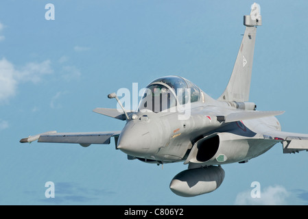 A Dassault Rafale B of the French Air Force in flight over Brazil during Exercise CRUZEX V. - Stock Photo