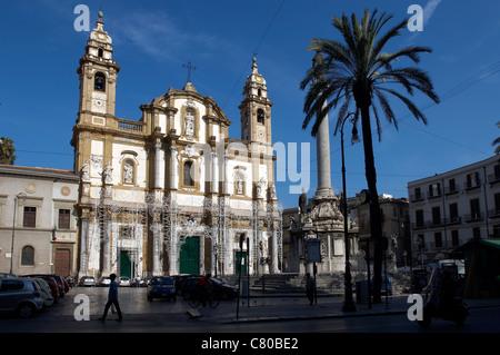 Italy, Sicily, Palermo, San Domenico Church - Stock Photo