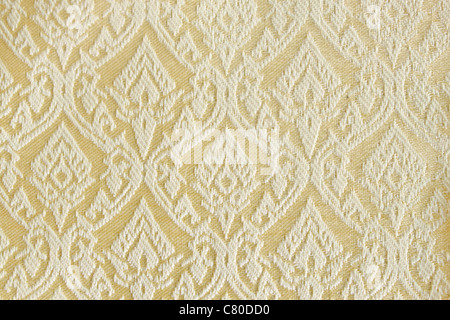 pattern of thai hand made fabric.Made popular in the country of Thailand. - Stock Photo