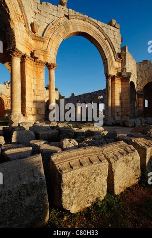 Syria, Qala'at Samaan, Saint Simeon Ruins. - Stock Photo
