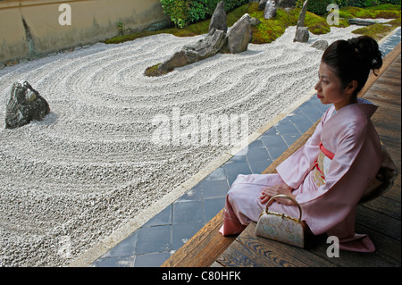 Japan, Kyoto, Daitokuji Zen Buddhist Temple - Stock Photo