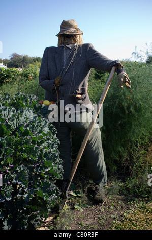 Scarecrow in the Kitchen Garden at Arundel Castle