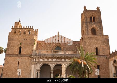 Monreale Cathedral, Monreale, near Palermo, Sicily, Italy - Stock Photo
