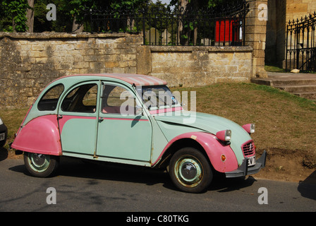 Citroen 2CV at Campden House in Chipping Campden Gloucestershire UK - Stock Photo