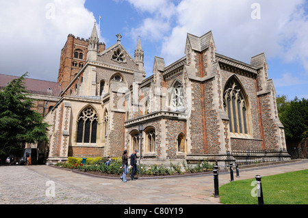 The east end of the Cathedral and Abbey Church of St Alban - Stock Photo