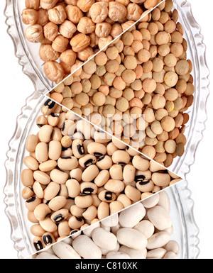 various beans - Stock Photo