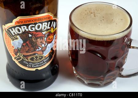 Hobgoblin bottled beer, the unofficial beer of Halloween - Stock Photo
