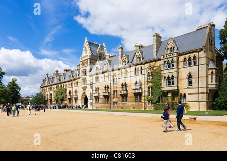 Oxford University. Christ Church College from Broad Walk, Oxford, Oxfordshire, England, UK - Stock Photo