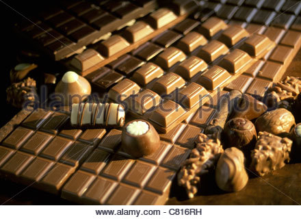 assorted luxury swiss chocolates Stock Photo, Royalty Free Image ...