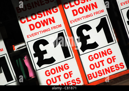 Bankruptcy sign - Stock Photo