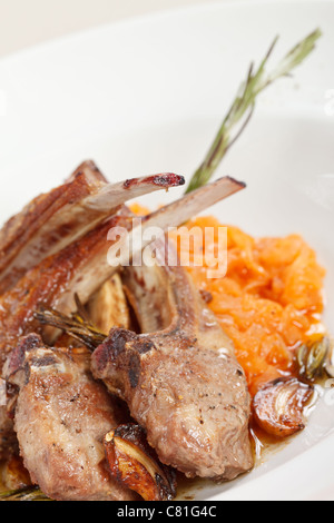 grilled ribs - Stock Photo